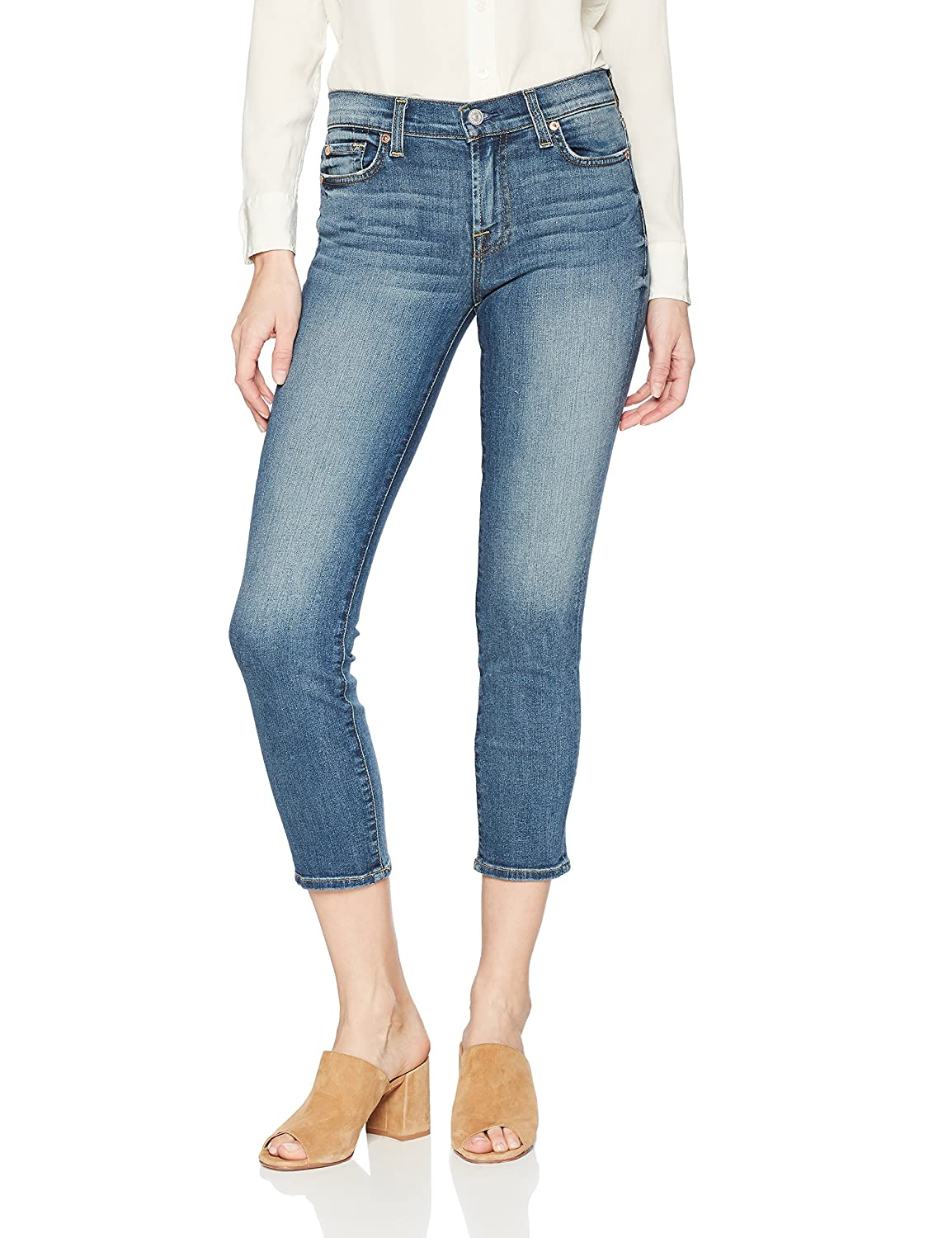 72eedf91b7b Amazon.com: 7 For All Mankind Women's Roxanne Ankle Jean: Clothing