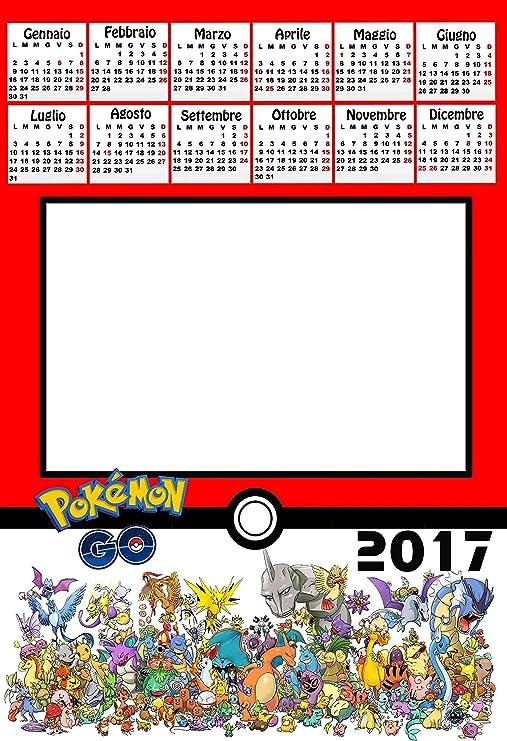 Calendrier Personnalisé 2017 Avec 1 Photos Art395 Pokemon