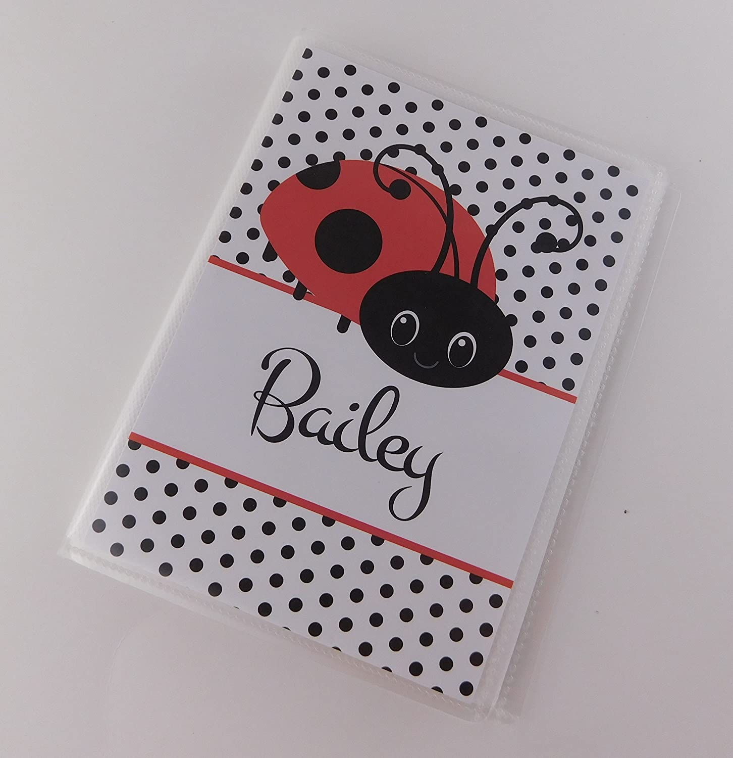Ladybug Photo Album IA#677 4x6 or 5x7 Book Personalized Baby Shower Gift Girl Picture
