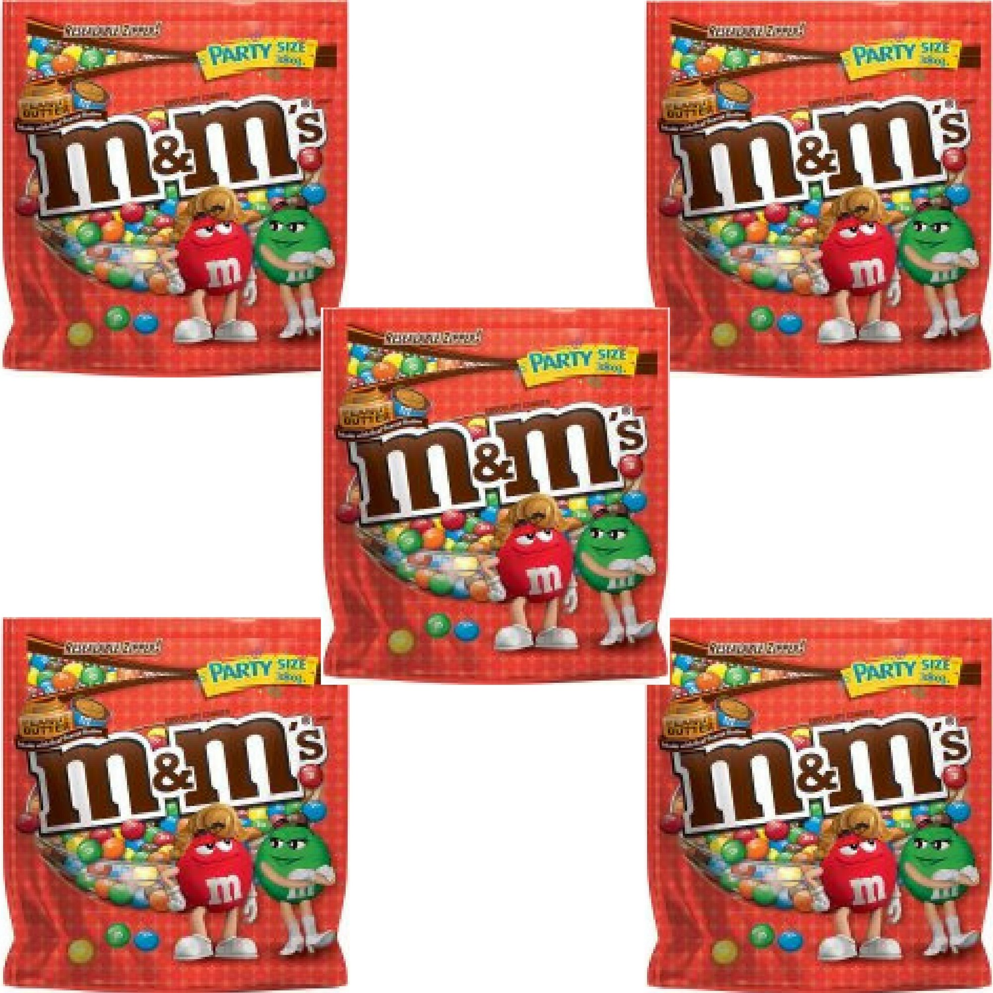 M&M'S Peanut Butter Chocolate Candy Party Size Bag, 38 oz - Pack of 5