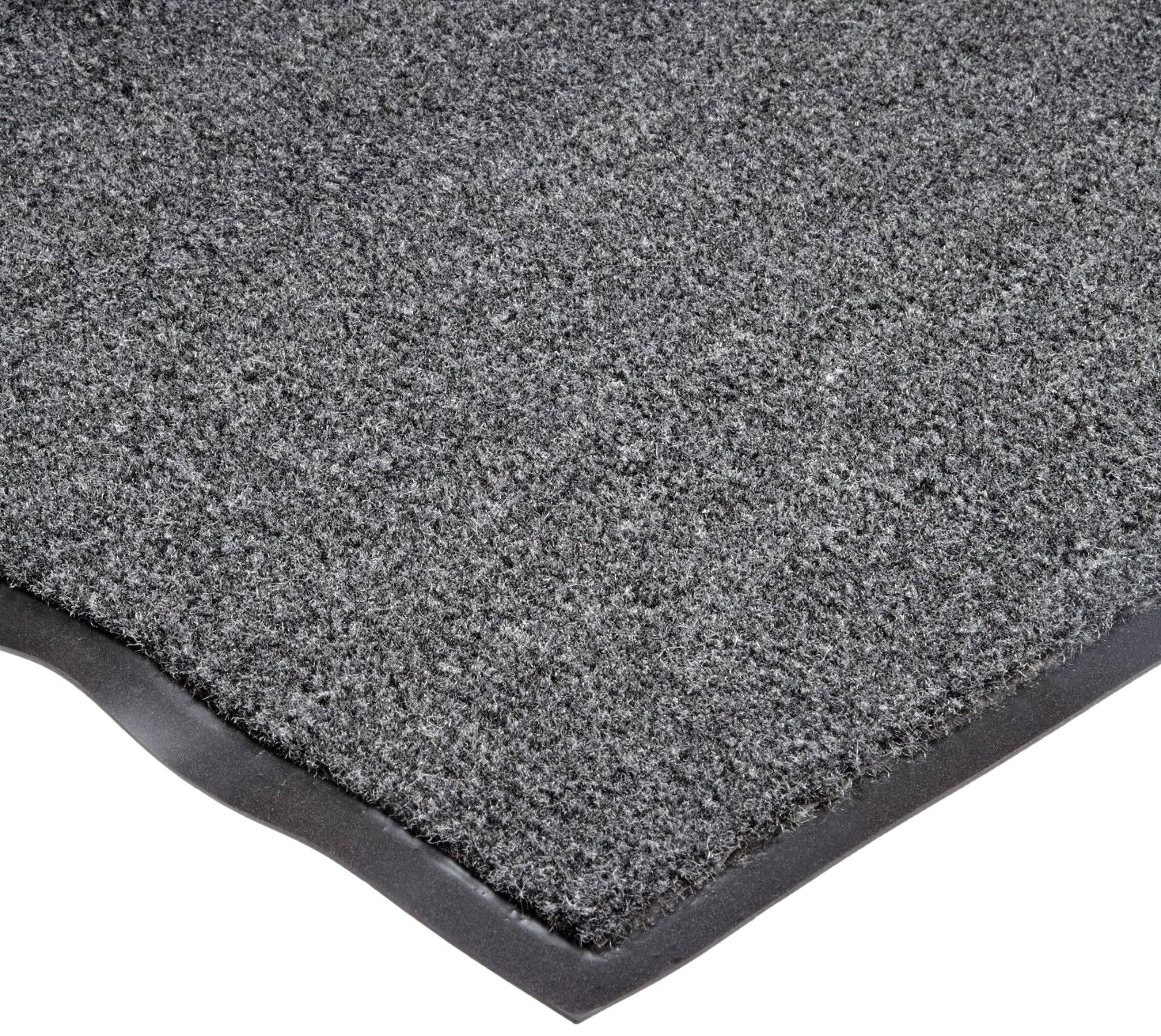 NoTrax T37 Fiber Atlantic Olefin Entrance Carpet Mat, for Wet and Dry Areas, 3' Width x 5' Length x 3/8'' Thickness, Gun Metal by NoTrax Floor Matting