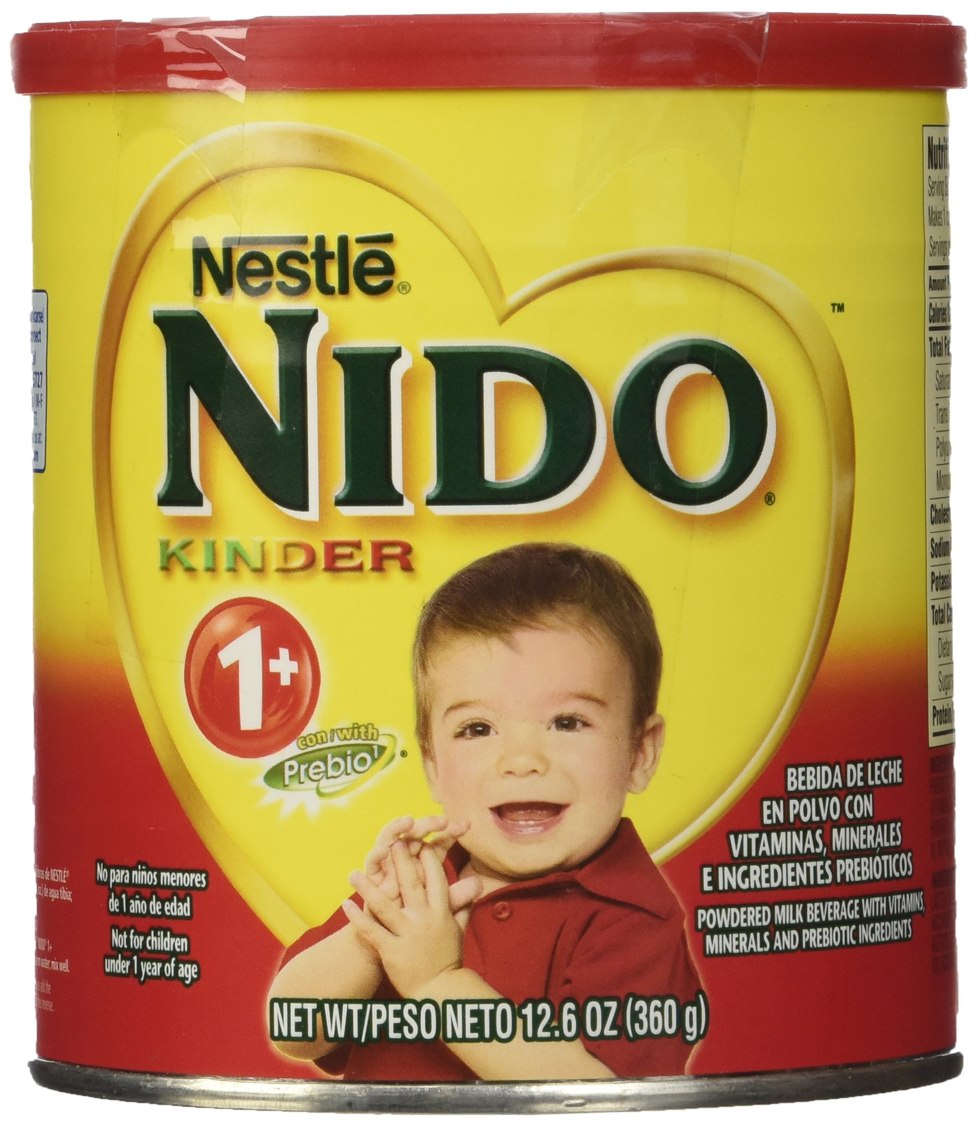 Nestle NIDO Kinder 1+ Powdered Milk Beverage, 12.69 oz. Canister by Nido