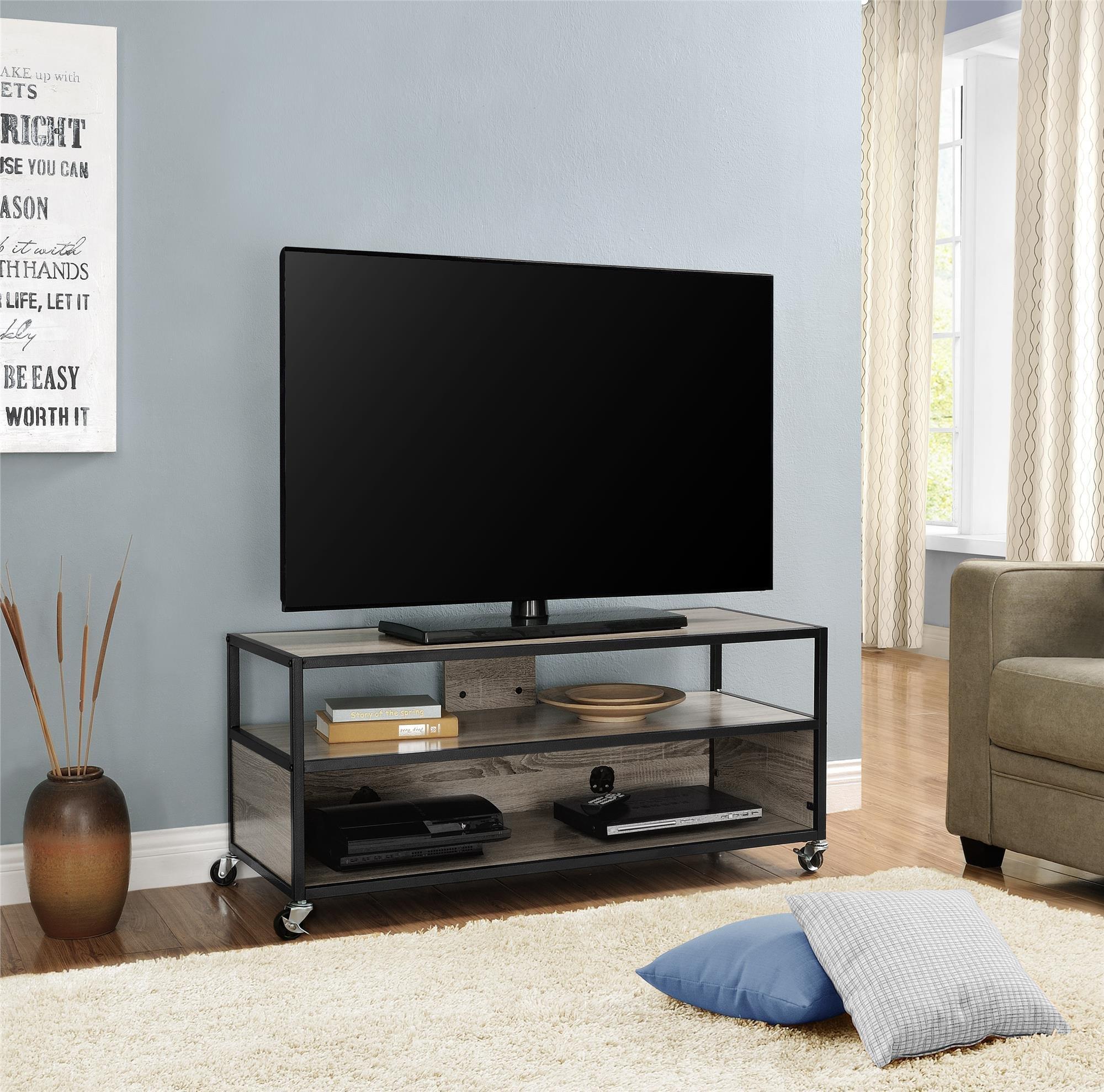 Altra Mason Ridge Mobile 46'' TV Stand with Metal Frame, Sonoma Oak/Black by Altra Furniture (Image #1)