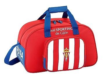 Safta Bolsa De Deporte Real Sporting De Gijon Oficial 400x230x240mm: Amazon.es: Equipaje