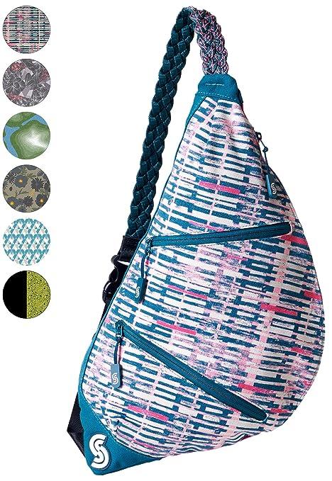 0201c08c10 Slope Sling Bag for Women Kids School Crossbody Shoulder Backpack One Strap  Daypack - Stripe Stamp