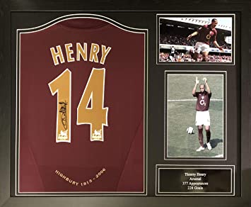 9021ff976 Allstarsignings Thierry Henry signed and framed Arsenal redcurrant shirt  with COA and proof