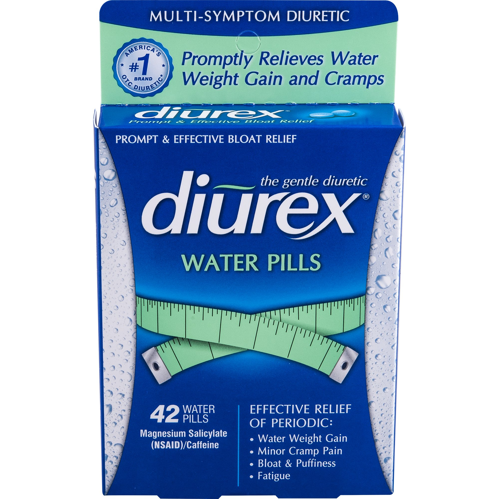 Diurex Water Pills, 42 Count Pills (Pack of 3)