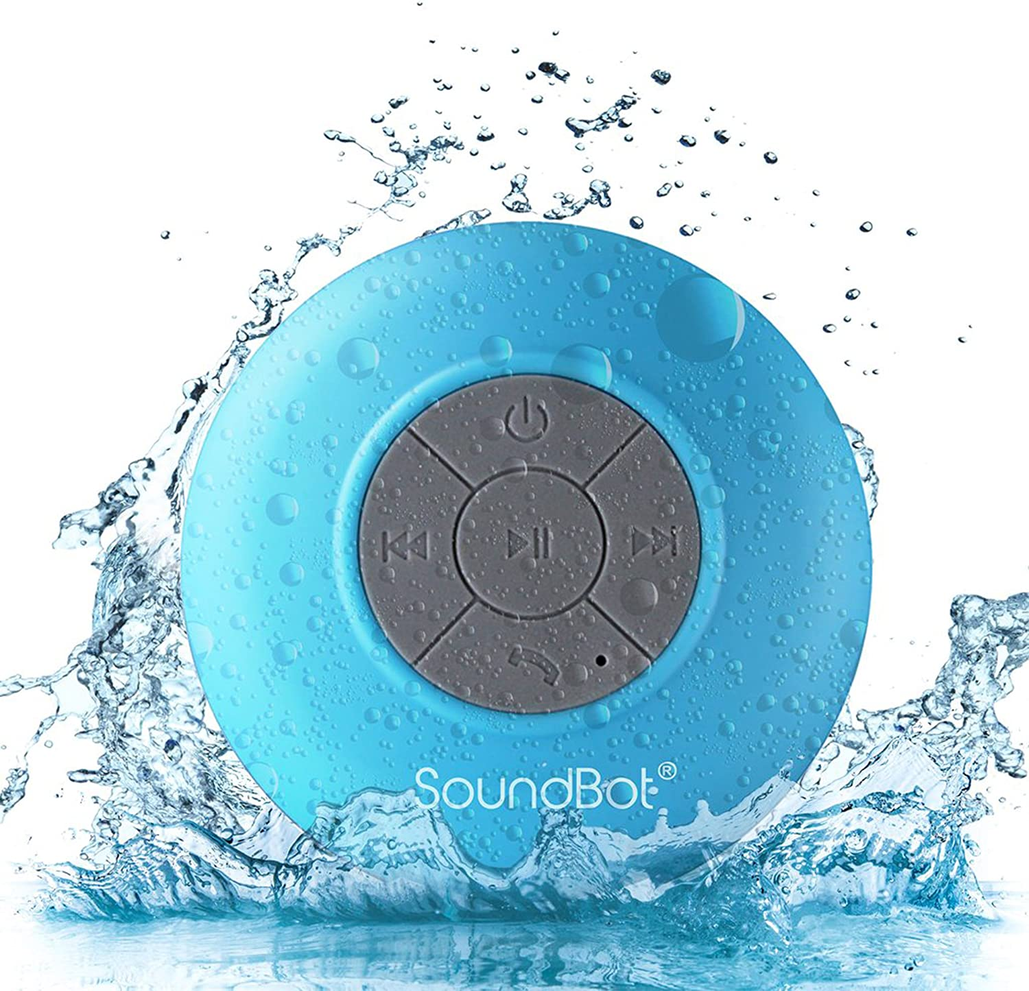 SoundBot SB9 HD Water Resistant Bluetooth 9.9 Shower Speaker, Handsfree  Portable Speakerphone with Built-in Mic, 9hrs of playtime, Control Buttons