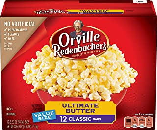 product image for Orville Redenbacher's Ultimate Butter Microwave Popcorn, (12 Count of 3.29 oz Bags) 39.49 oz