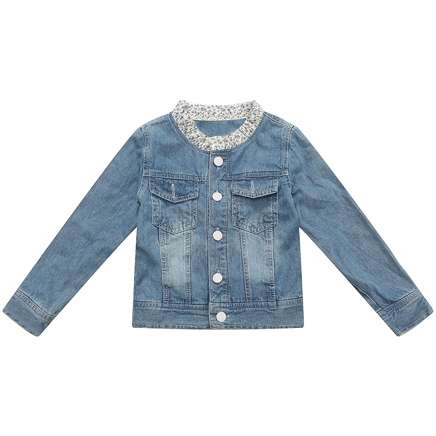Richie House Little Girls' Denim Jacket Rh1494