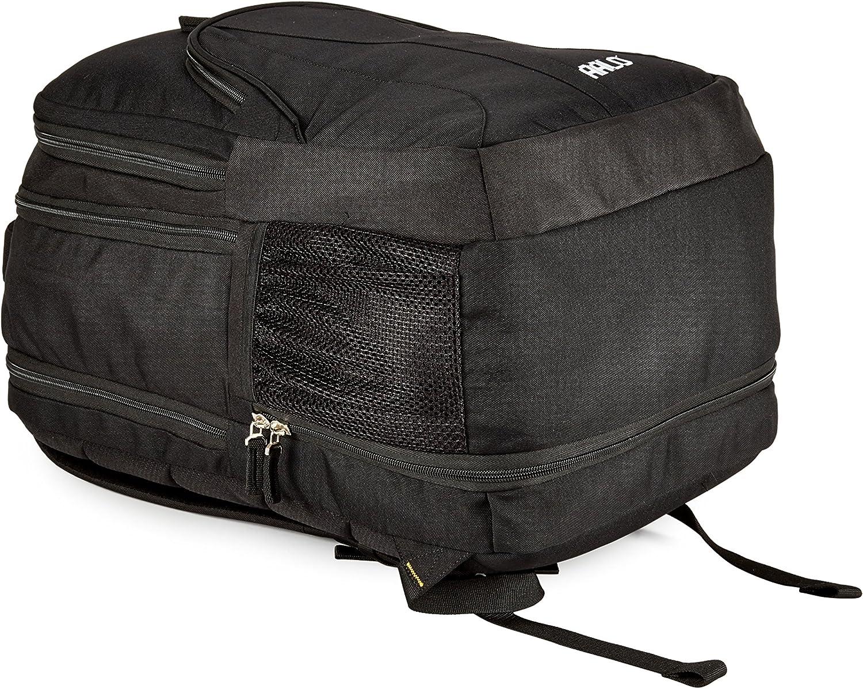 C-2 AALO Heavy-Duty Expandable School Laptop Backpack Black