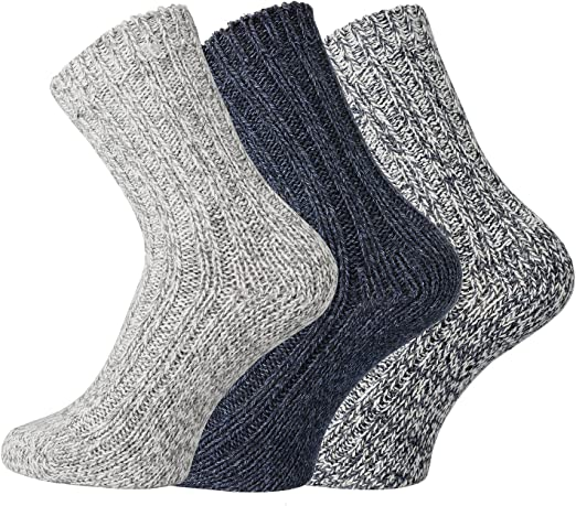 SocksPur - Patucos noruegos, de lana, para bebés y niños, pack de 3: Amazon.es: Ropa y accesorios