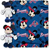 Officially Licensed MLB & Mickey Cobranded Hugger and Fleece Throw Blanket, Soft & Cozy, Washable, 40' x 50'