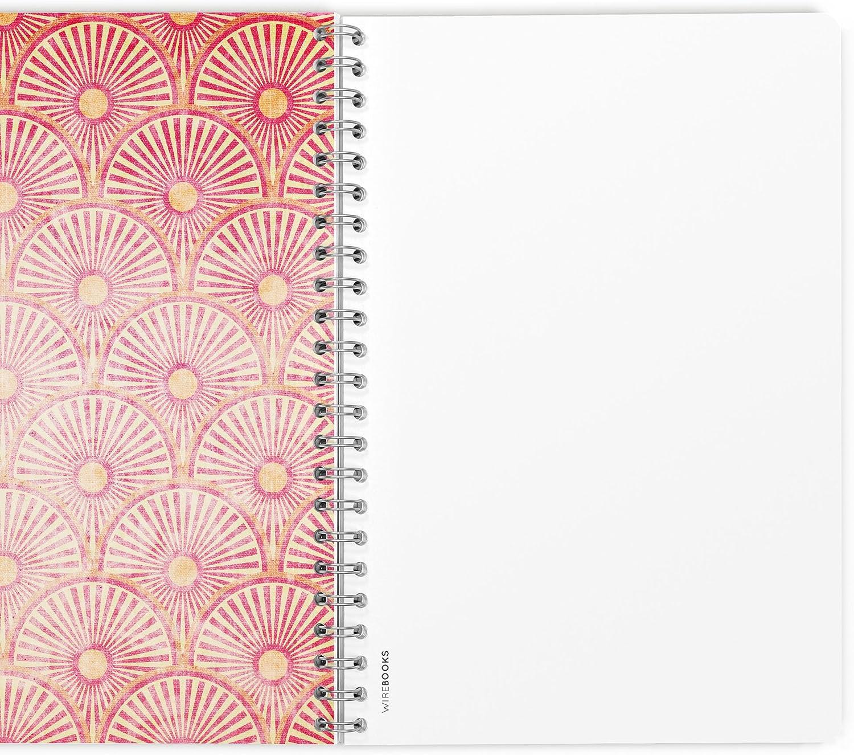 Carnet WIREBOOKS 5030 DIN A5 120 Pages de Papier 100g /à Lignes Notebook Journal Bloc-Notes Cahier