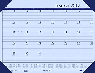"""product image for House of Doolittle 2017 Monthly Desk Pad Calendar, EcoTones, Orchid Paper, 22 x 17"""" (HOD12473-17)"""