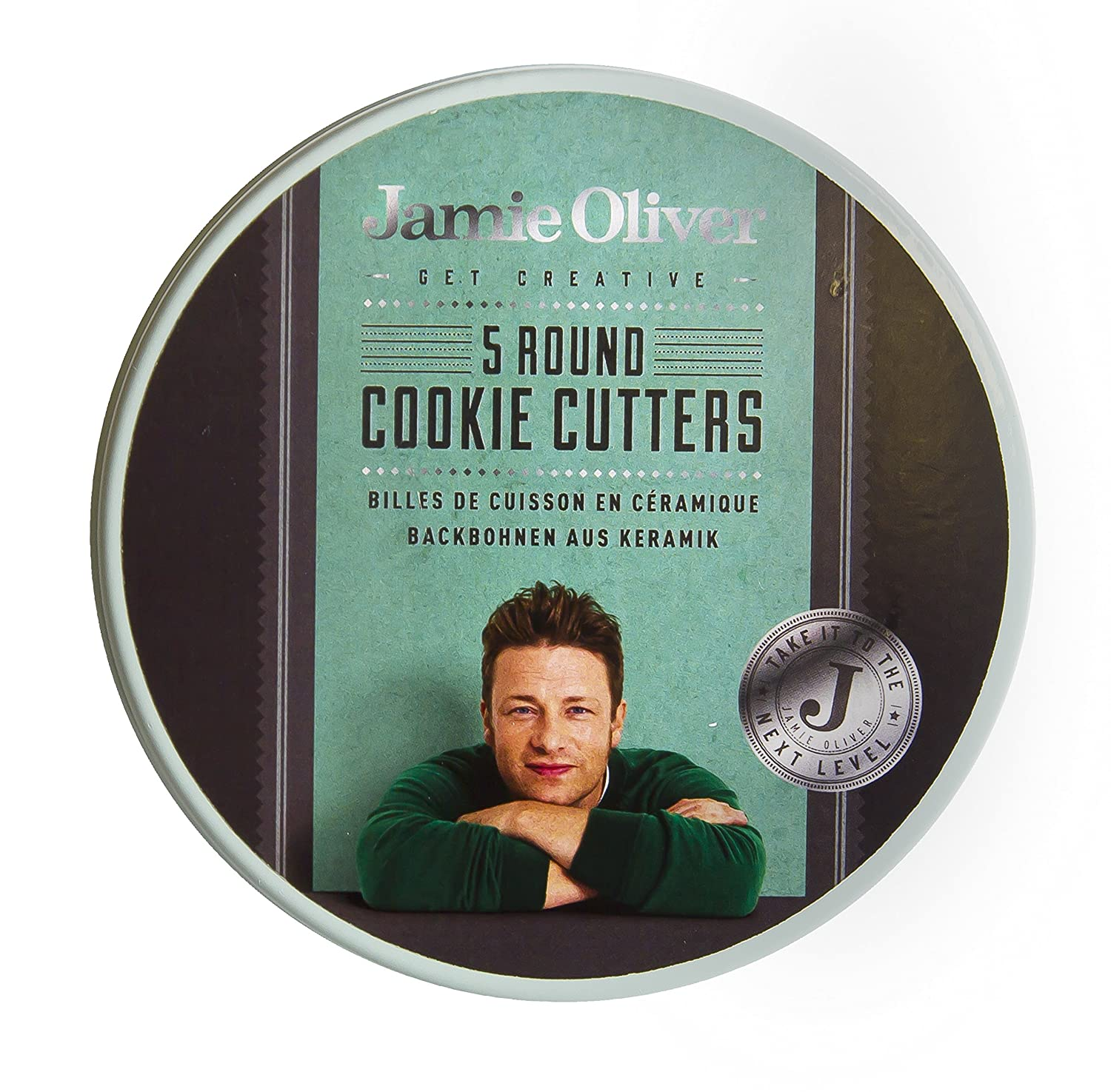 Jamie Oliver Bakeware Range Round Cookie Cutters Set of 5 Stainless Steel//Harbour Blue 5//6//7//8.5//9.5 cm