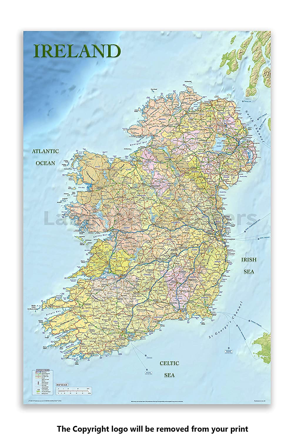 Maxi Poster 61cm x 91.5cm new and sealed Great Britain /& Ireland Political Map