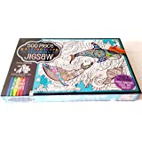 500 Piece Kaleidoscope Coloring Jigsaw Puzzle: Beneath the Waves