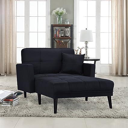 Divano Roma Furniture Modern Linen Fabric Recliner