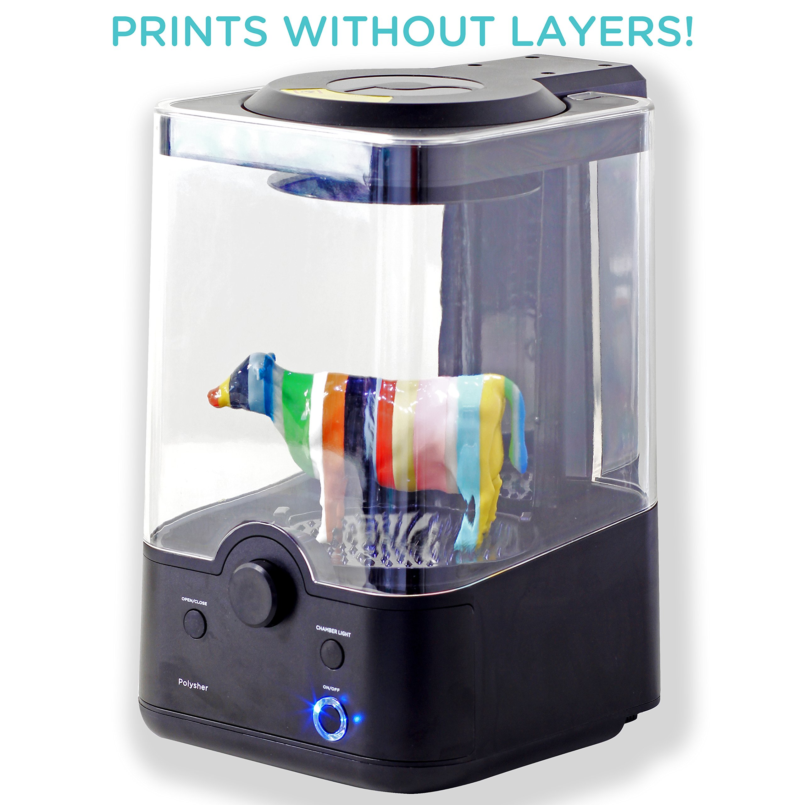 Polymaker Polysher, 3D Prints Polisher, Work with PolySmooth 3D Printer Filament to Create the Layer-Free Print Surface by Polymaker