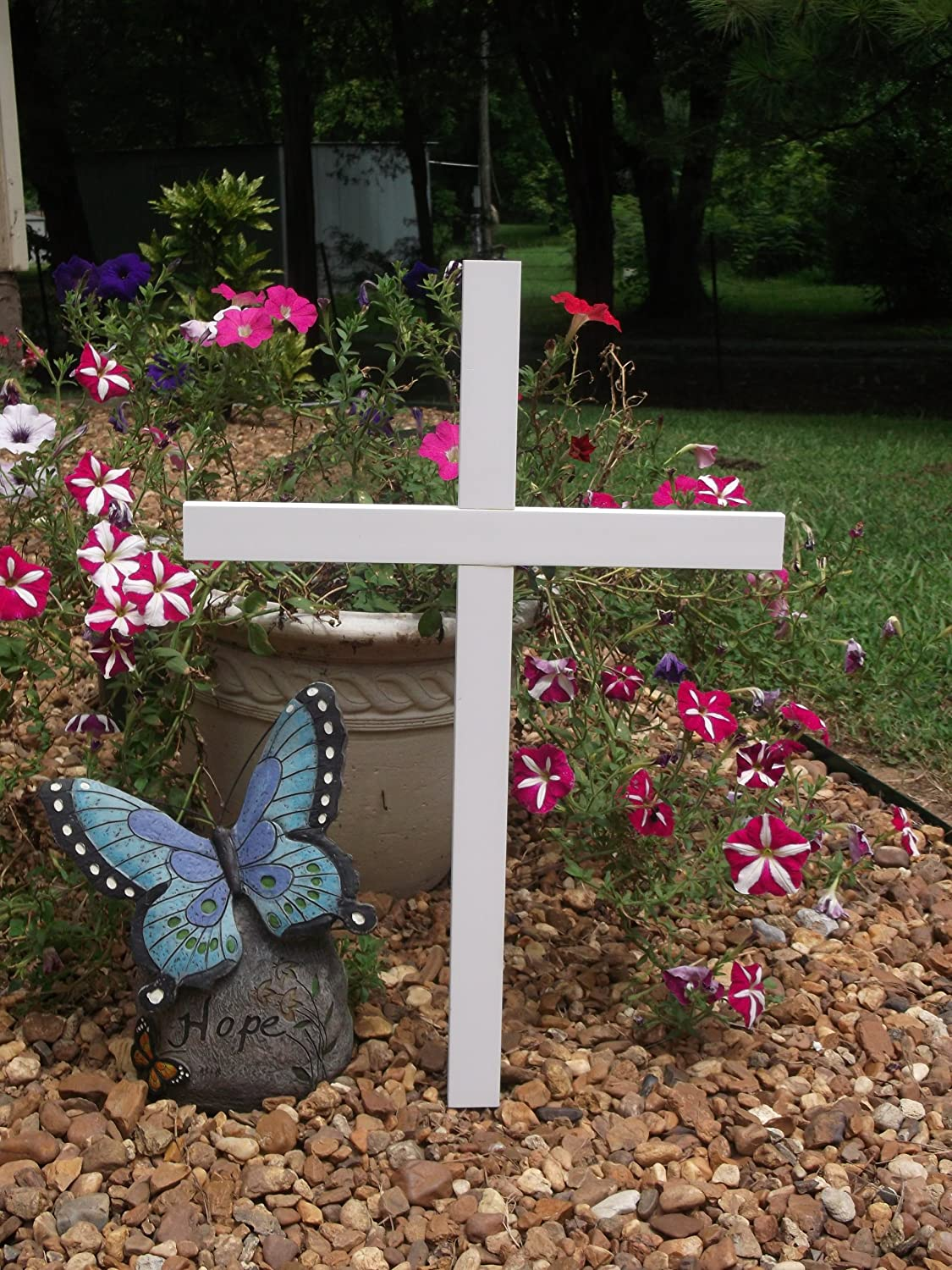 Amazon.com : Easter White Cross Garden Cross Outdoor Cross Yard ...