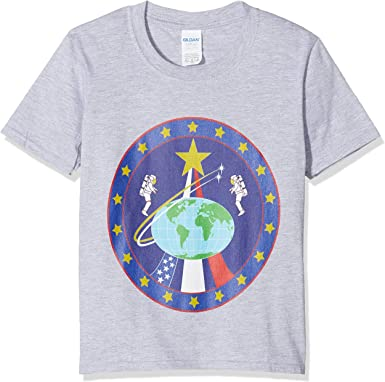 Brands In Limited NASA Globe Astronauts Camiseta para Niñas: Amazon.es: Ropa y accesorios
