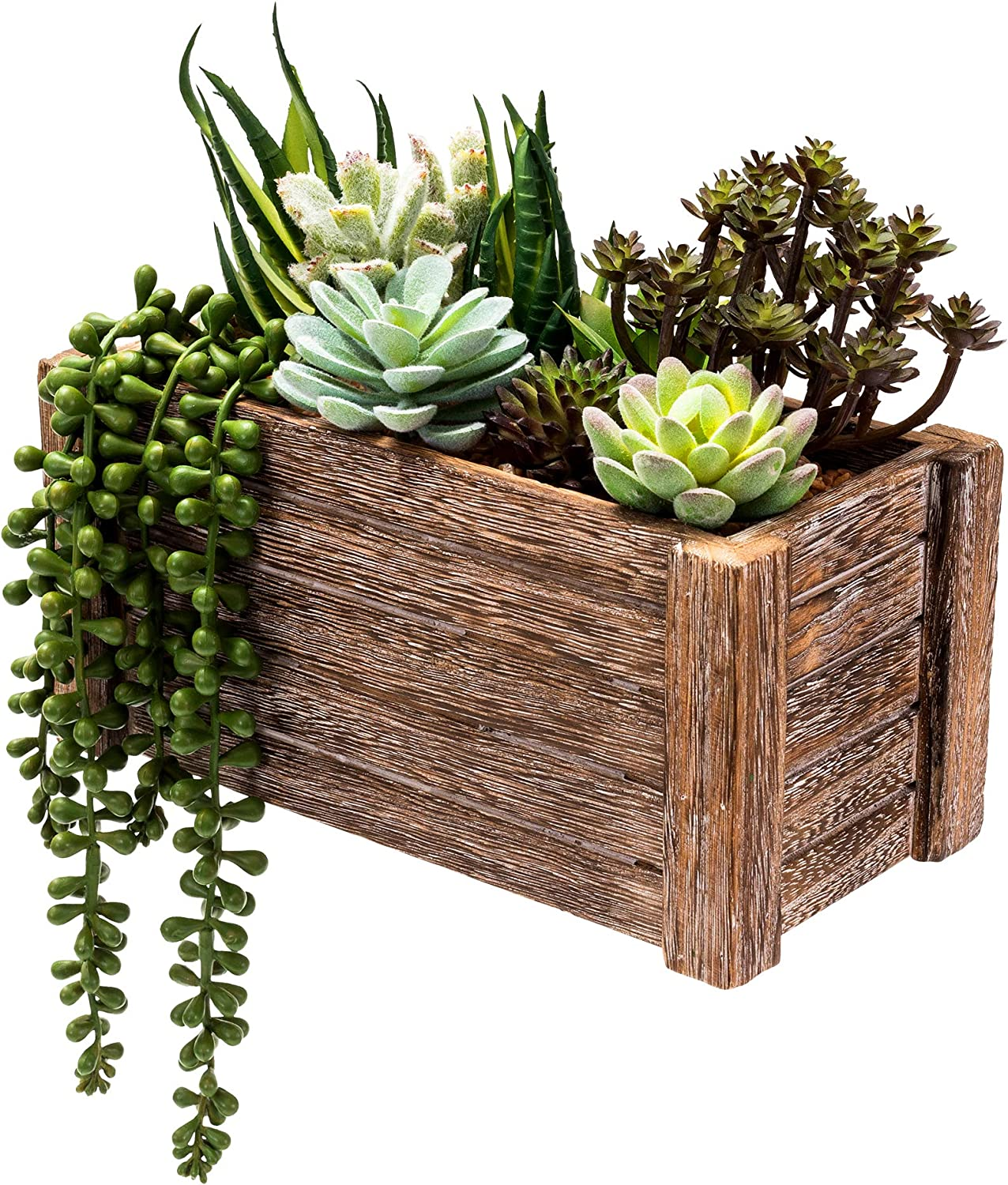 Faux Plants Small Fake Plant - 10 Pieces Potted in Box Mini Fake Plants Room Decor, Faux Plant Decor Indoor Plant Wall Decor Bathroom Plant Fake Desk Plant Office Plant Small Artificial Plants Outdoor