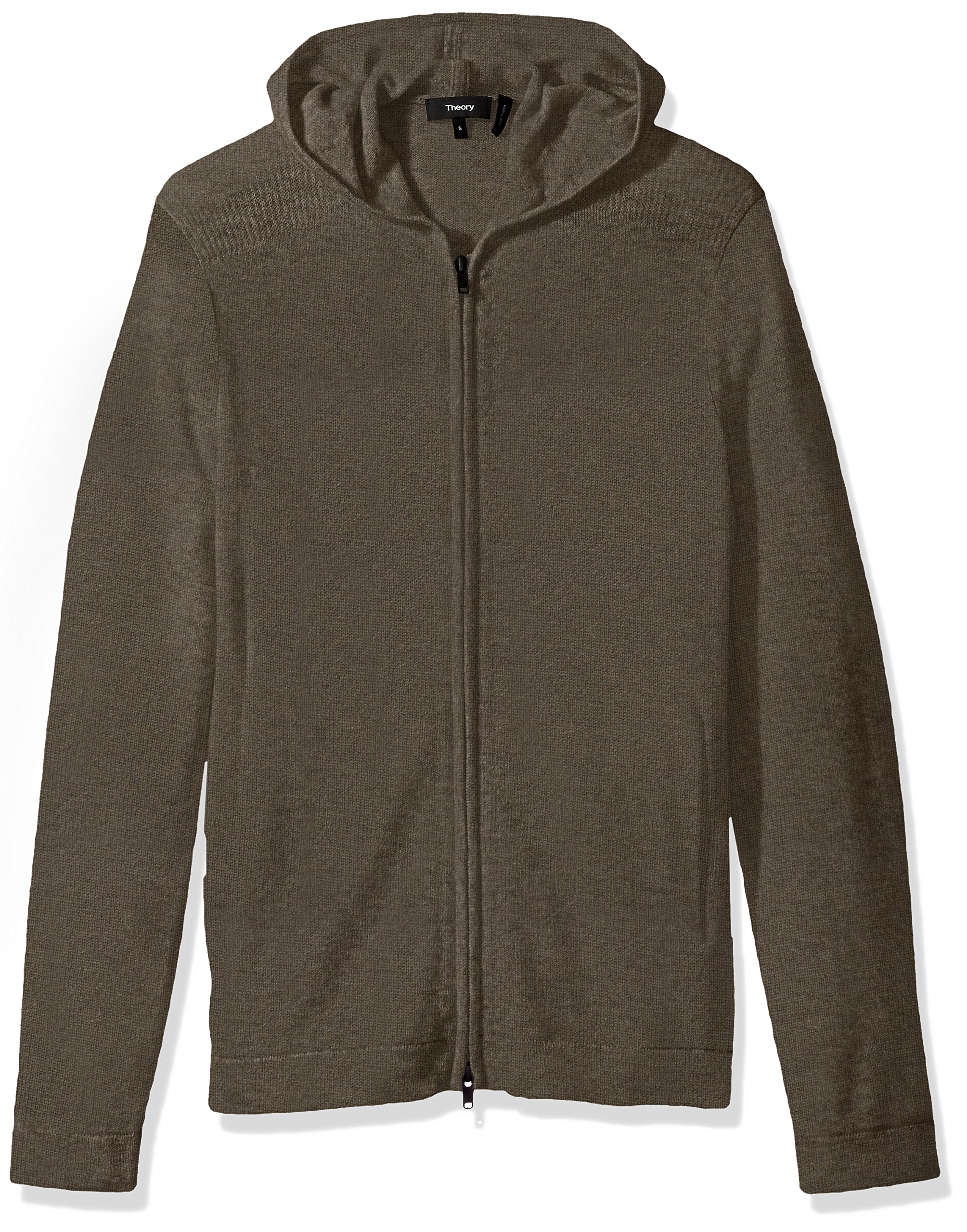 Theory Men's Kamero SD Aires Fzip Hood, Foam Heather, Small