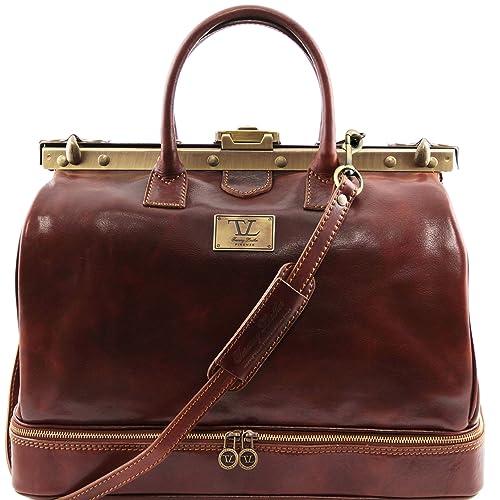 Tuscany Leather 81411854 Barcelona – Estribo de Maul Médico Bolsa de viaje de piel, color