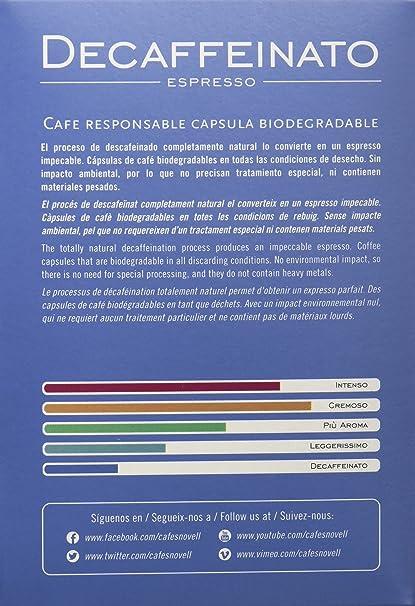 Cafes Novell Pack Decaffeinato - 40 Cápsulas: Amazon.es ...
