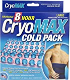 """CryoMAX Cold Pack, Reusable, Latex Free, 8 Hour Cold Therapy, Large, 12"""" x 12"""" (1 Count)"""