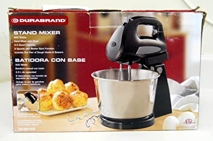 Amazon.com: Durabrand DC-SM168 Stand Mixer w/ 300 Watts 3.5Q Quart Capacity: Kitchen & Dining