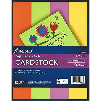 amazon com neon bright colors printable cardstock paper 8 1 2 x11