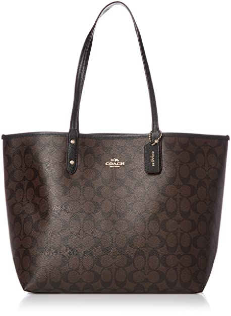 7caf883aea Coach Signature Reversible PVC Large Tote Bag  Amazon.in  Shoes ...