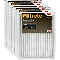 Filtrete MPR 300 16x25x1 AC Furnace Air Filter, Clean Living Basic Dust, 6-Pack
