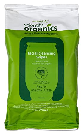 Amazon.com: emerginC Scientific Organics - Biodegradable Facial Cleansing Wipes, (Pack of 30): Health & Personal Care