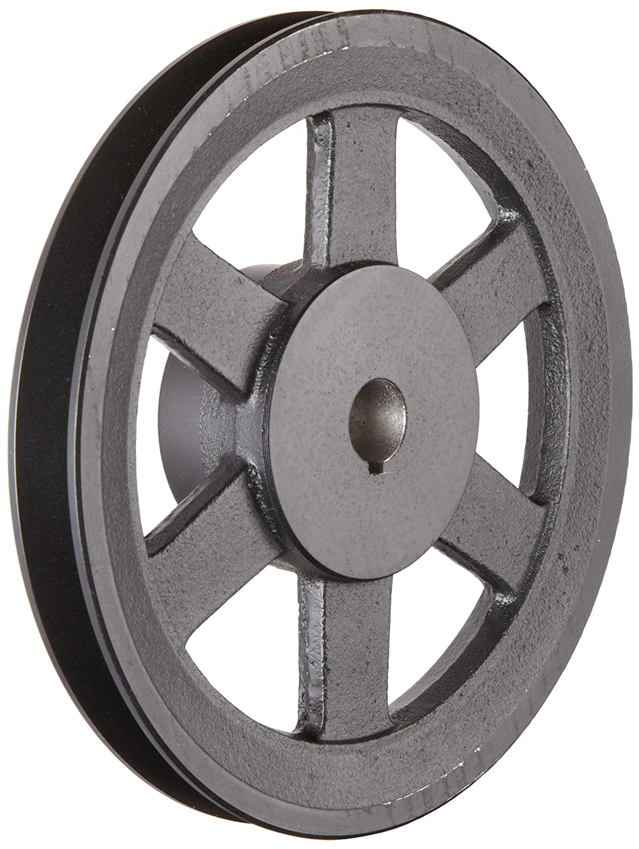 Martin BK48 1 1 8 FHP Sheave BS 4L 5L or B Belt Section 1 Groove 1 1 8 Bore Class 30 Gray Cast Iron 4.55 OD 5453 max rpm 3.8 Datum 4.2 Datum