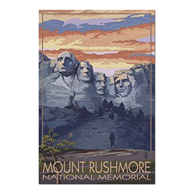 Mount Rushmore National Memorial, South Dakota - Sunset View (Premium 1000 Piece Jigsaw Puzzle for Adults, 20x30, Made in USA!): Toys & Games