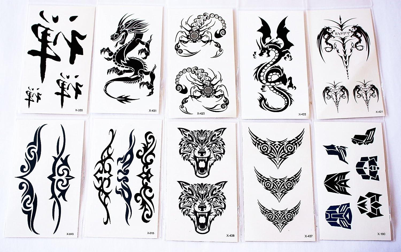 Wolga creativos Tattoo Juego 10 arco como Principal de dragón ...