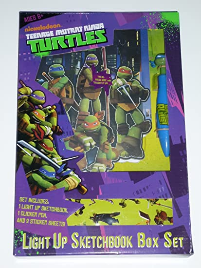 Amazon.com: Teenage Mutant Ninja Turtles Light Up Sketchbook ...