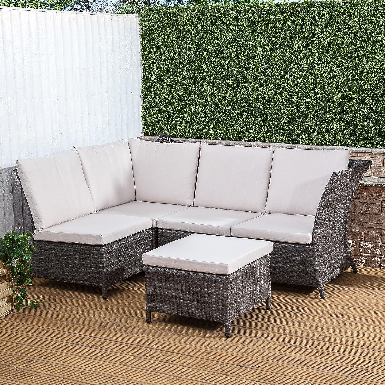 Portofino 4 piezas muebles de jardín de mimbre conservatorio ...