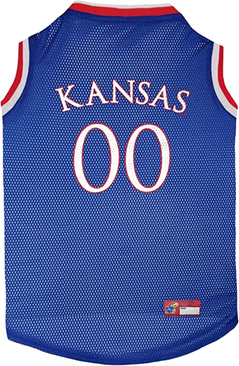Pets First KU-4020-XXL Kansas Basketball Jersey, Multicolor, One Size