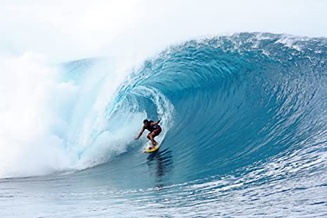 Amazon.com: Teahupoo Wave Breaking Surf Cartel Arte Foto ...