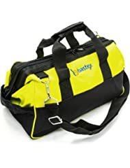 Multi Purpose Tool Bag Carrying Case with Adjustable Shoulder Strap, 14 Pocket Water Resistant Heavy Duty Grab n Go for Handyman, Electrician, Plumbers, Home Improvement, Automotive Repair by BASTEX