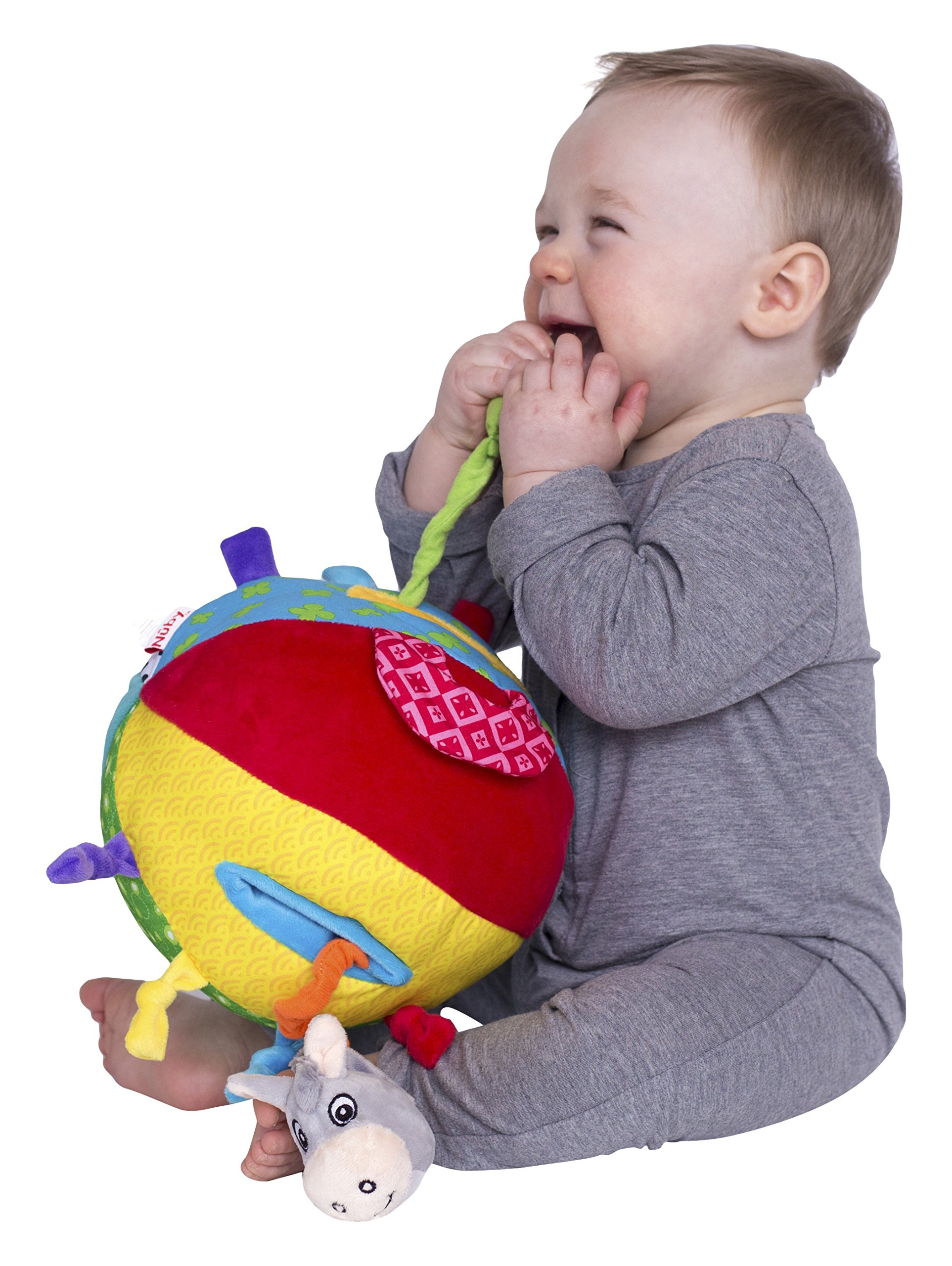 Nuby Squeak Rattle N' Roll Plush Interactive Toy by Nuby (Image #1)