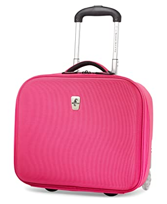 Amazon.com | Atlantic Luggage Debut Rolling Tote, Pink, One Size ...