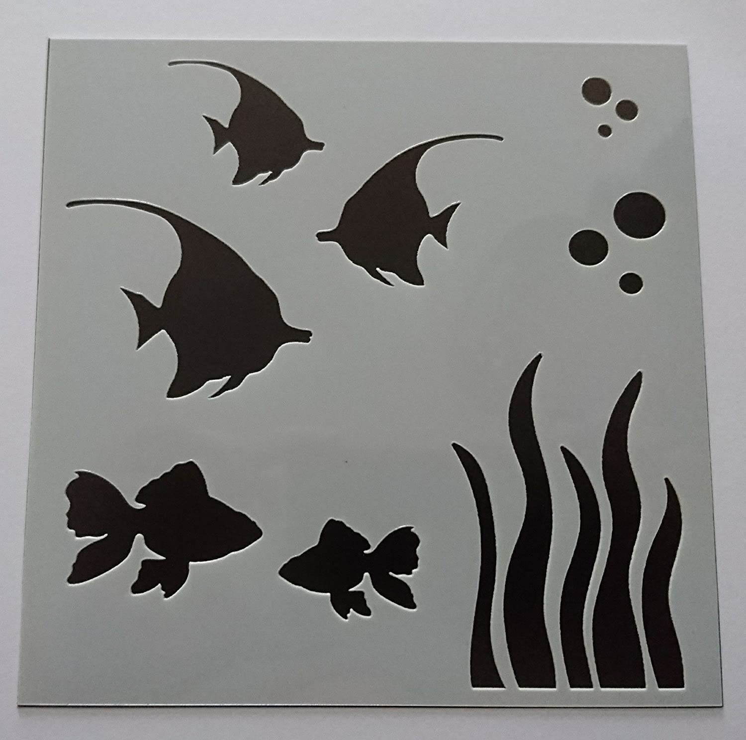 Pesci 15, 2 x 15, 2 cm stencil/Mask by Imagine design creare Imagine Design Create