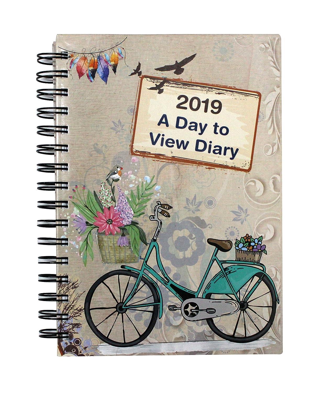 2019 - Cubierta de espiral para agenda de negocios, oficina, hogar, viajes, organización, citas, regalo y más, color Vintage Art A5