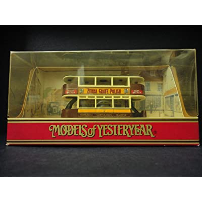 "Matchbox Models of Yesteryear Y15-D 1920 Preston Type Tram ""Zebra Grate Polish"" 1:87 Scale Diecast: Toys & Games"