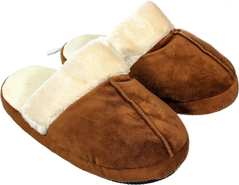USB Heated Foot Warmer Plush Winter Warm Electric Slipper Feet Warmer Women Men